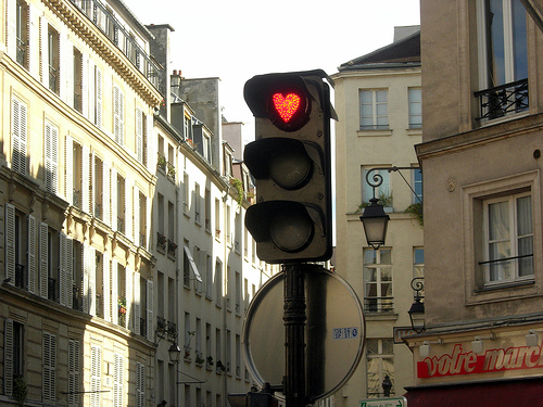 Romantični semafor u Parizu