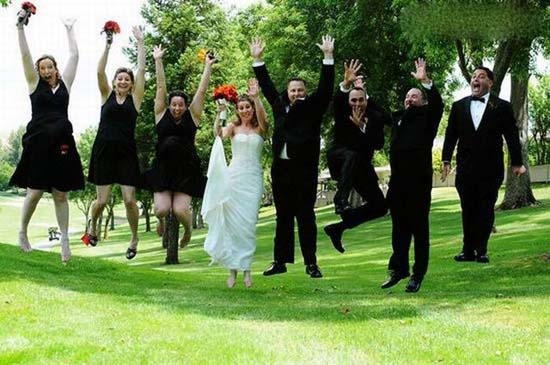 no gravity wedding