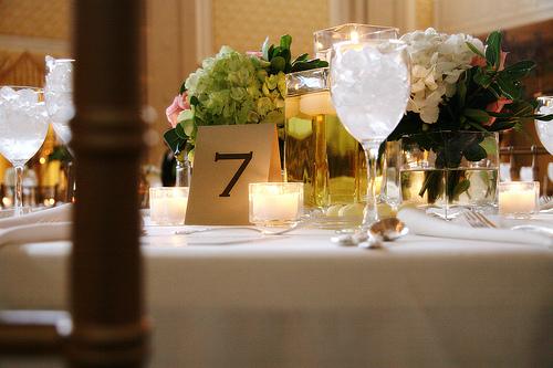 broj stola i dekoracija