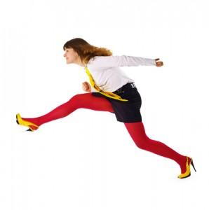 devojka trci