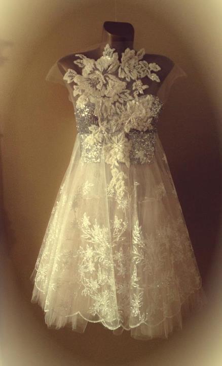 haljina Boudoir Frosty flowers dress