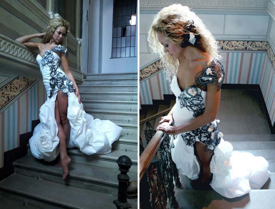 eko-detalji Marijane Stantic na kreaciji Marije Sabic za mis Srbije 2011