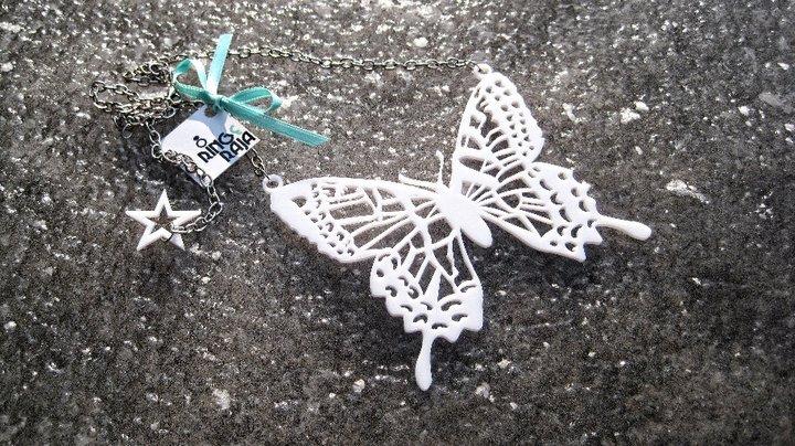 ogrlica RINGeRAJA za tematsko venčanje sa leptirićima