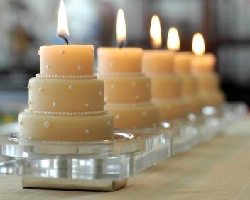 sveće kao dekoracija