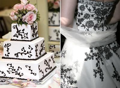 tematsko venčanje crno-belo