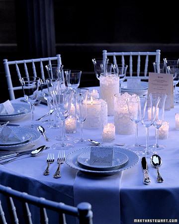 dekoracija stola svećama