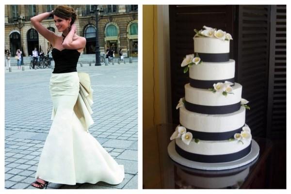 crno belo tematsko venčanje