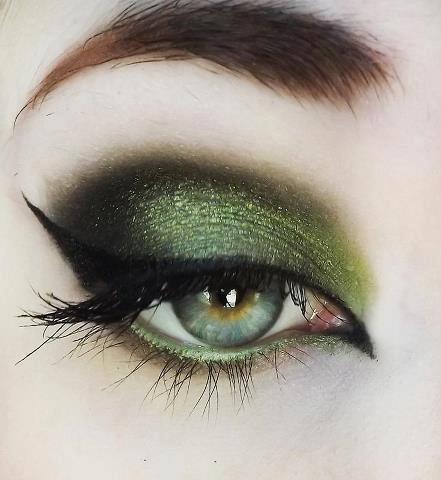 kako nasminkati zelene oci