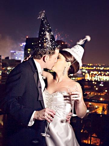 mladenci na novogodišnjem venčanju