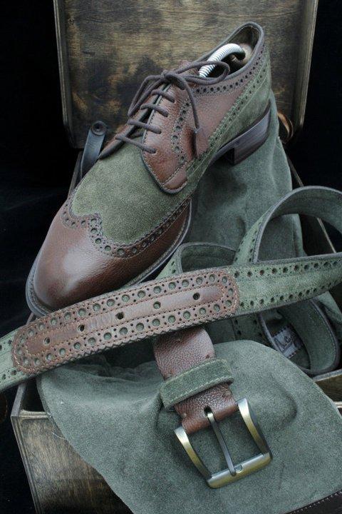 ručno rađene muške cipele i kaiš Igor Suhenko