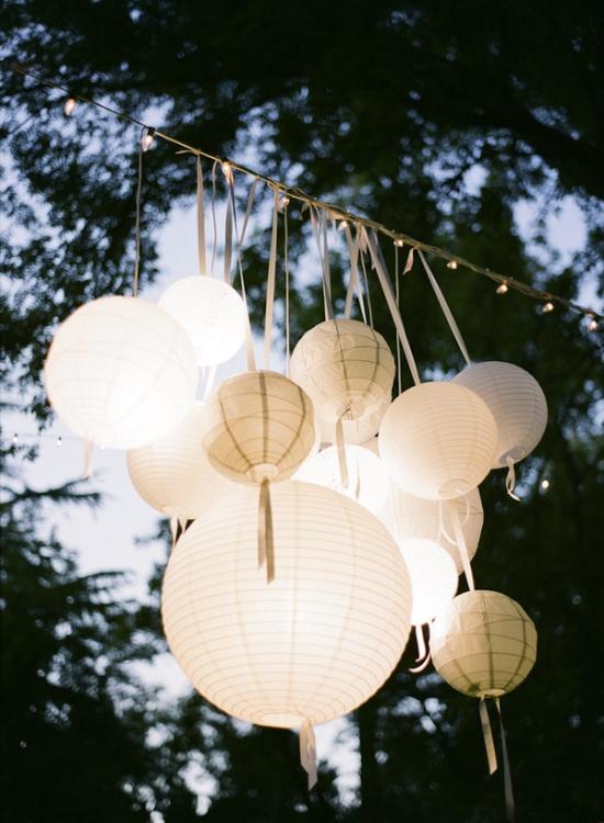 papirni lampioni za dekoraciju svadbe