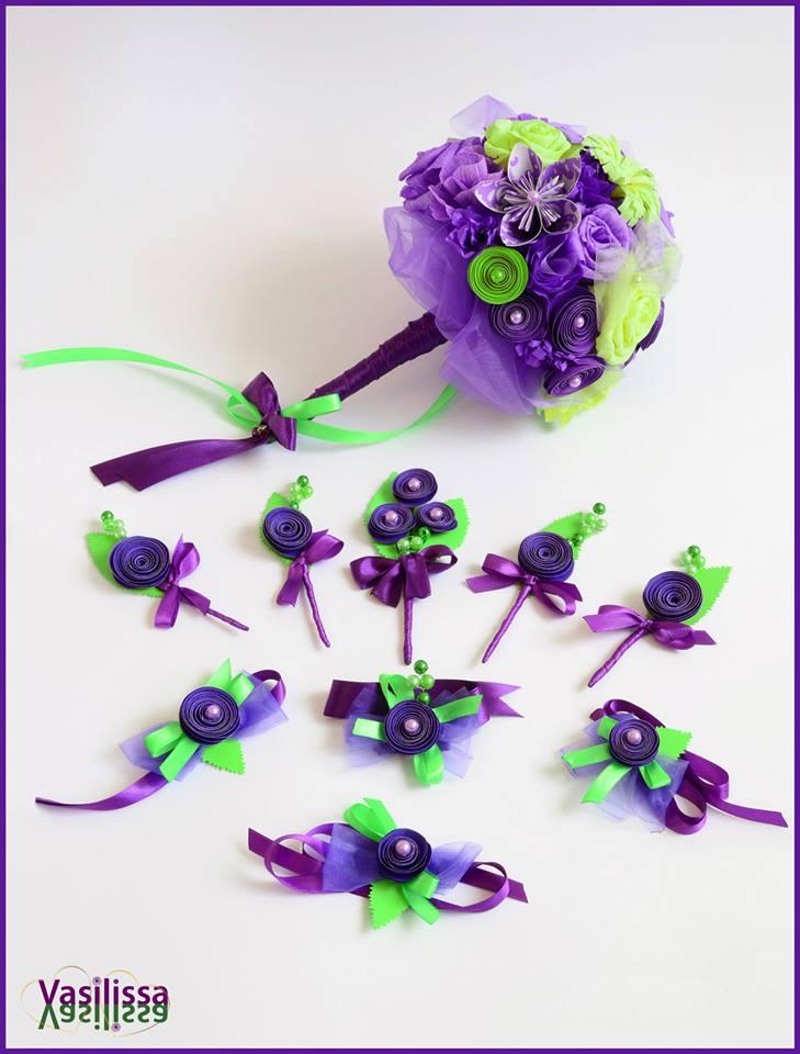 dekoracija vencanja cvetovima od papira