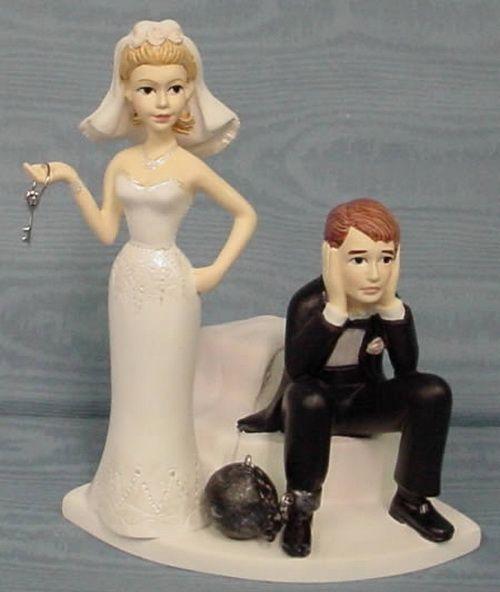 neobične figurice za mladenačku tortu