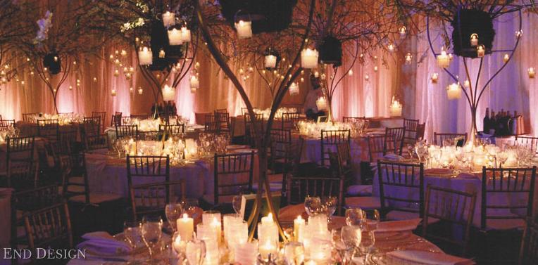 dekoracija vencanja svecama