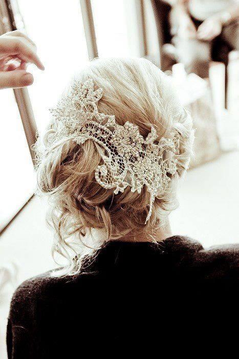 frizura za venčanje sa ukrasom