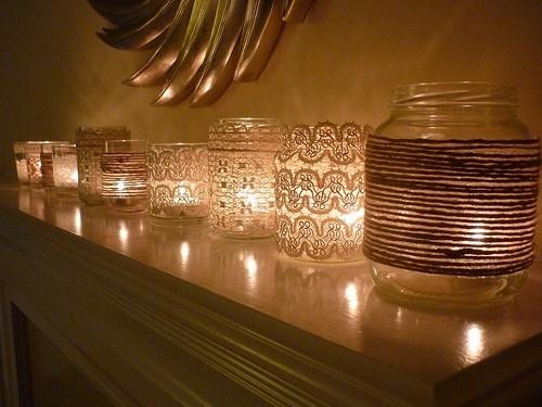 dekorisane tegle sa svećama