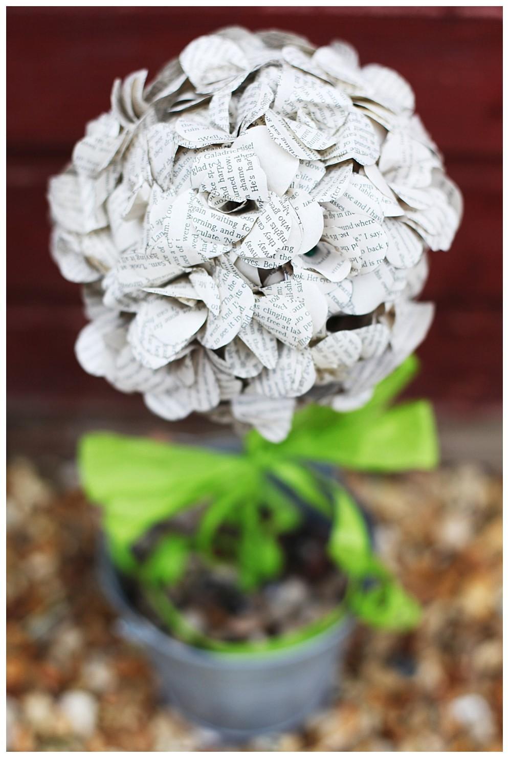 papirno cveće kao dekoracija