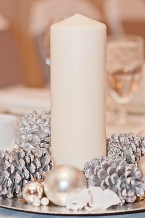 praznična dekoracija svećama