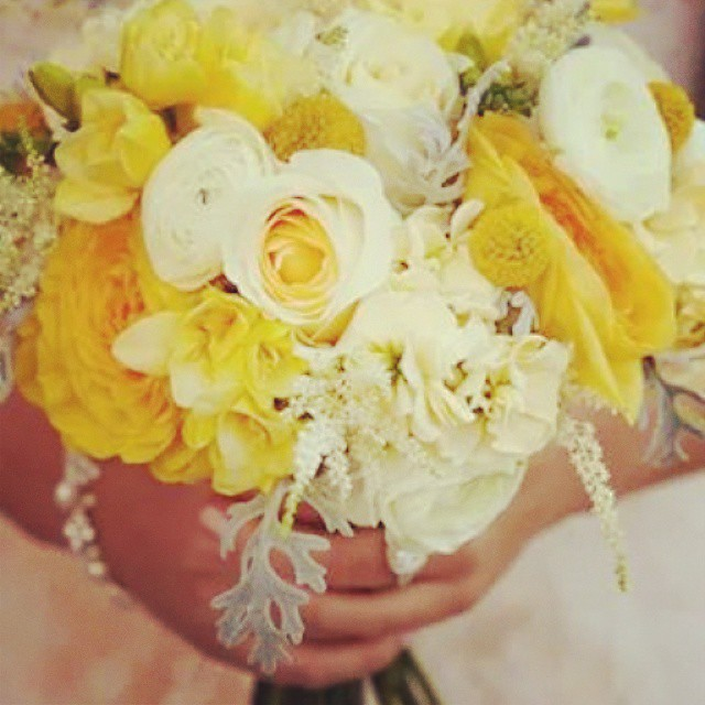 Yellow #weddingbouqet